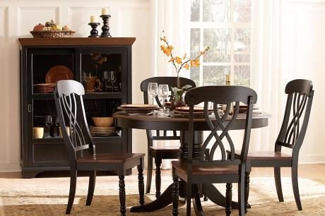 (2)Round Dining Table/1393BK-48*