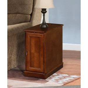 CHAIRSIDE TBL W/POWER CHARGER,BROWN/3550CH-02