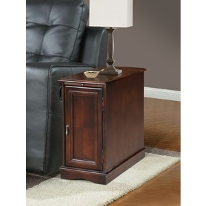 CHAIRSIDE TBL W/POWER CHARGER,ESPRESSO/3550ES-02